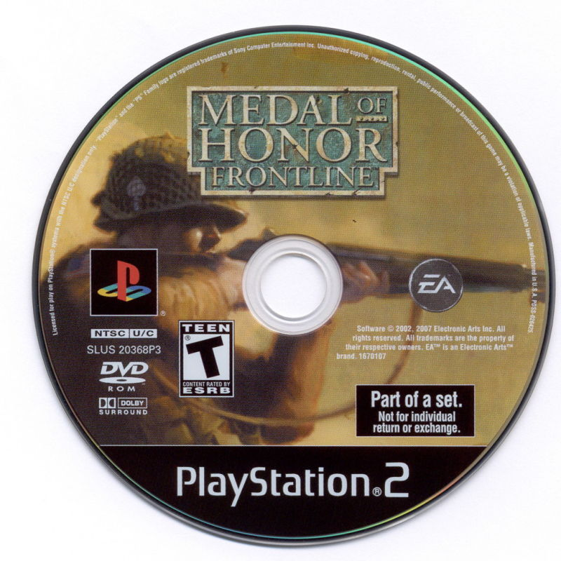 Medal of Honor Collection PlayStation 2 Media Medal of Honor: Frontline