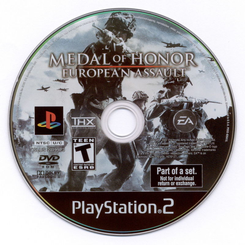 Medal of Honor Collection PlayStation 2 Media Medal of Honor: European Assault