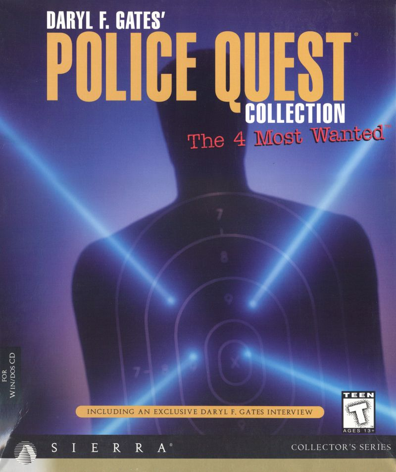Daryl F. Gates' Police Quest Collection: The 4 Most Wanted DOS Front Cover