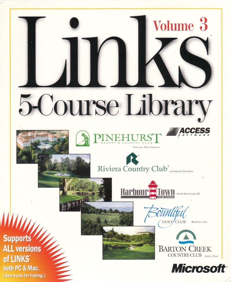 Links: 5-Course Library - Volume 3 DOS Front Cover