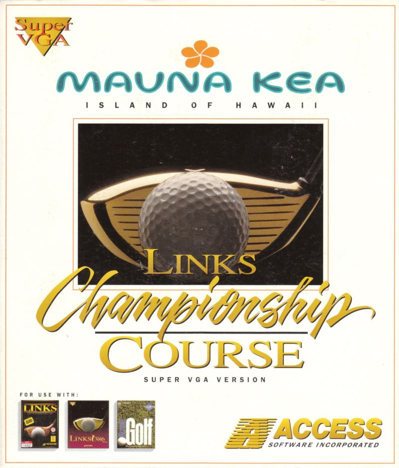 Links: Championship Course - Mauna Kea DOS Front Cover