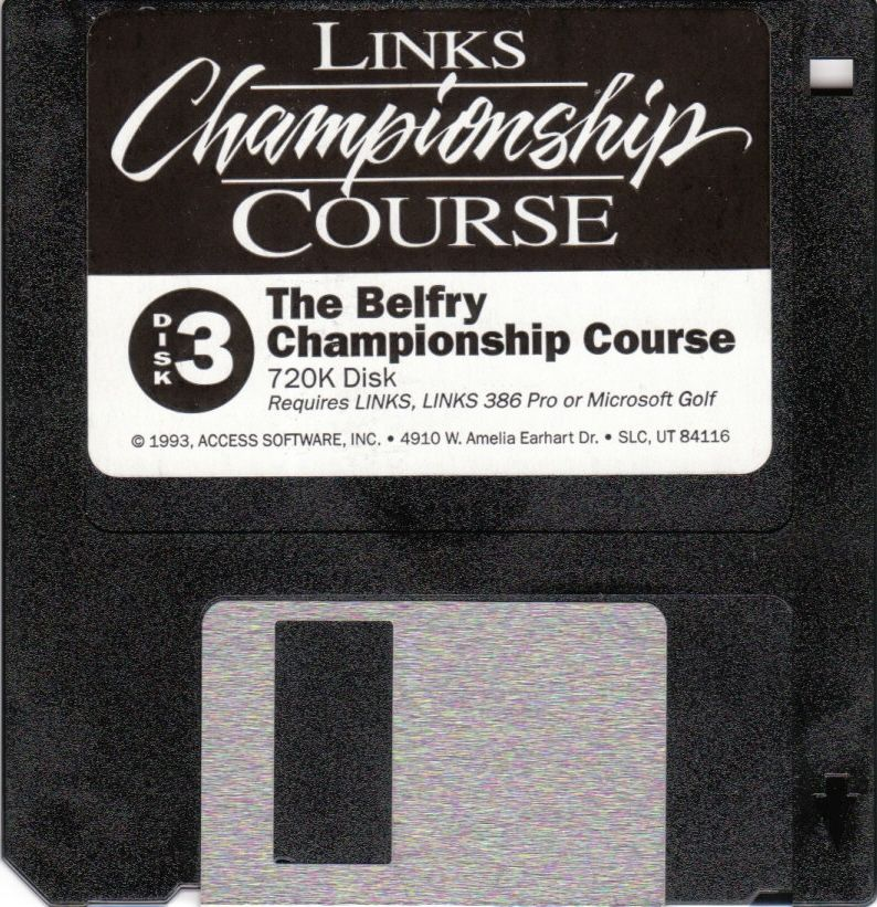 Links: Championship Course - The Belfry DOS Media Disk 3/3