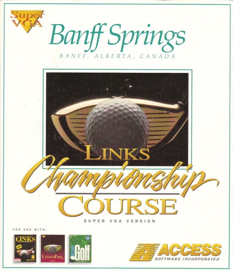 Links: Championship Course - Banff Springs DOS Front Cover