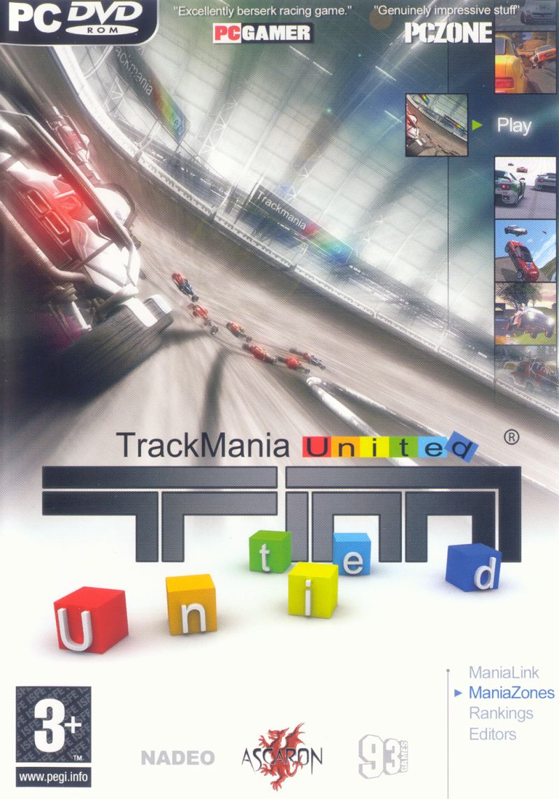 TrackMania United Windows Other Keep Case - Front
