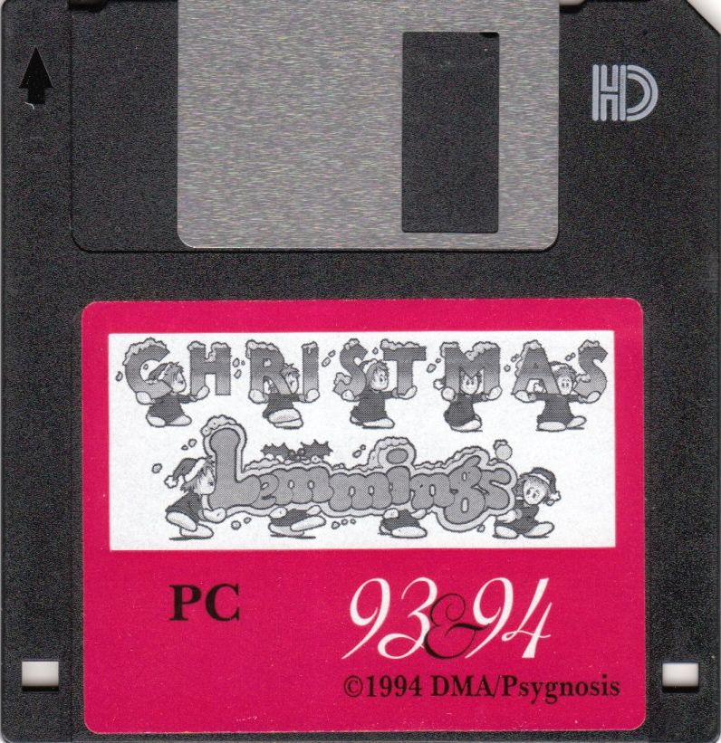 Holiday Lemmings DOS Media