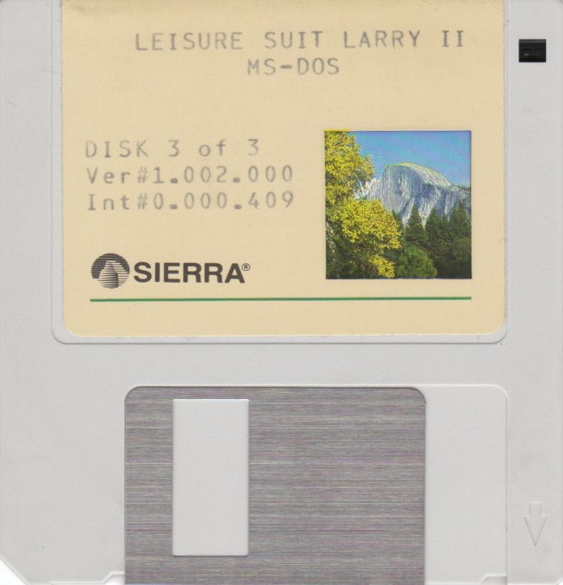 "Leisure Suit Larry Goes Looking for Love (In Several Wrong Places) DOS Media 3.5"" Disk 3"