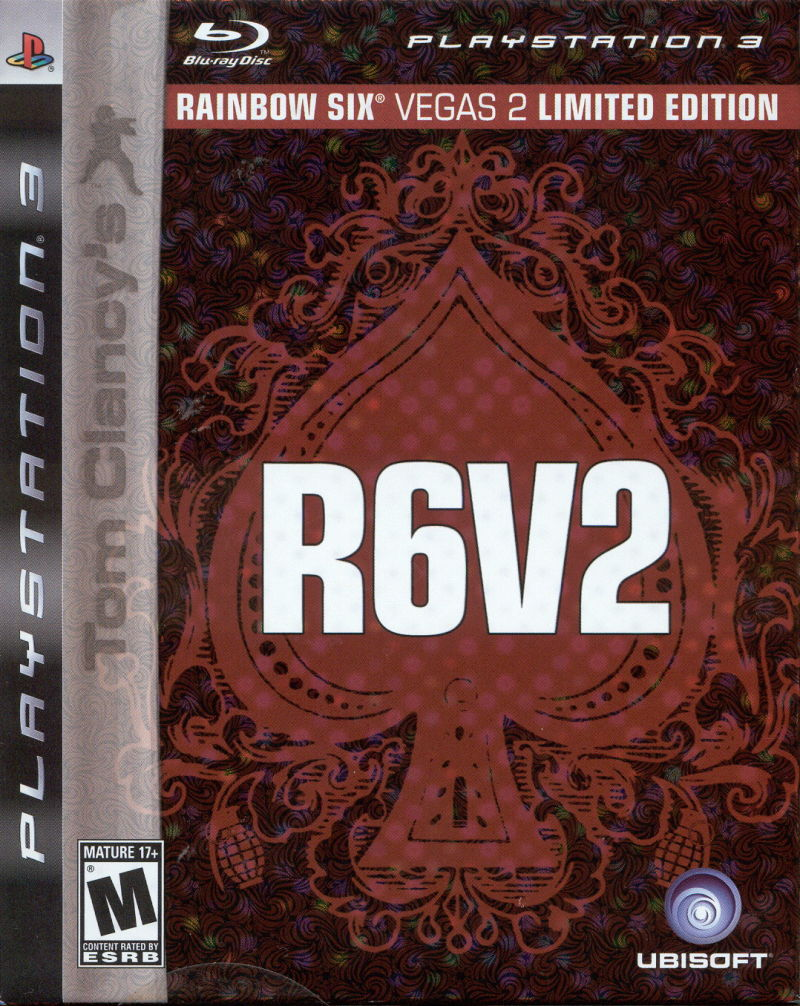 Tom Clancy's Rainbow Six: Vegas 2 (Limited Edition) PlayStation 3 Front Cover