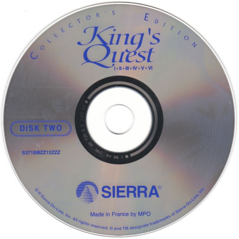 King's Quest (Collector's Edition) DOS Media Disc 2/2