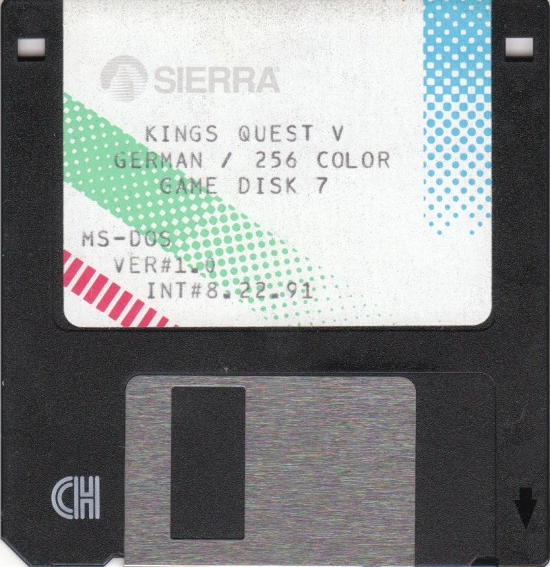 King's Quest V: Absence Makes the Heart Go Yonder! DOS Media Game Disk 7/7