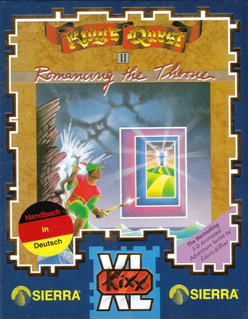King's Quest II: Romancing the Throne DOS Front Cover
