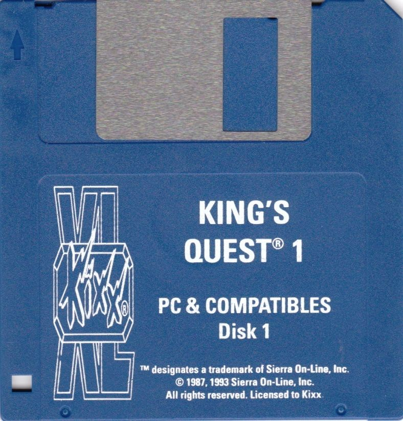 Roberta Williams' King's Quest I: Quest for the Crown DOS Media Disk 1