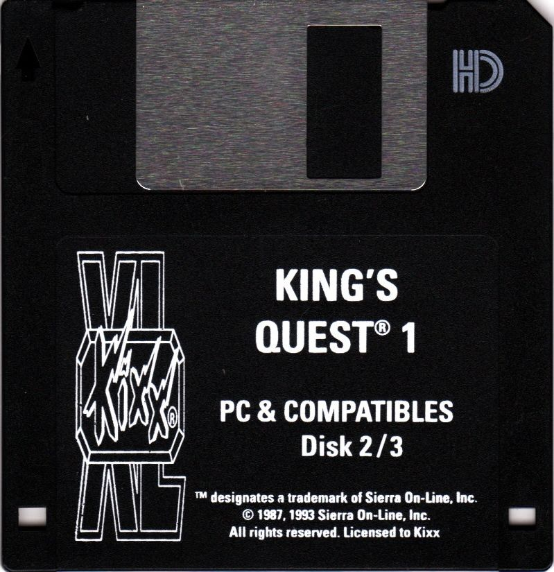Roberta Williams' King's Quest I: Quest for the Crown DOS Media Disk 2 (Contains original Disks 2+3)