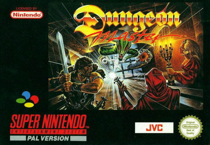 Dungeon Master SNES Front Cover