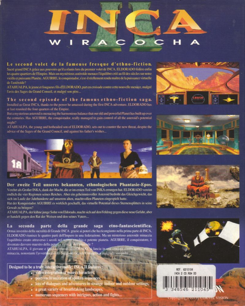 Inca II: Nations of Immortality DOS Back Cover