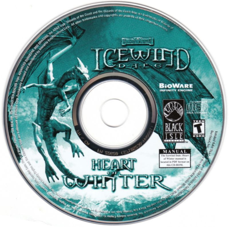 Icewind Dale: The Collection Windows Media Icewind Dale: Heart of Winter - Disc