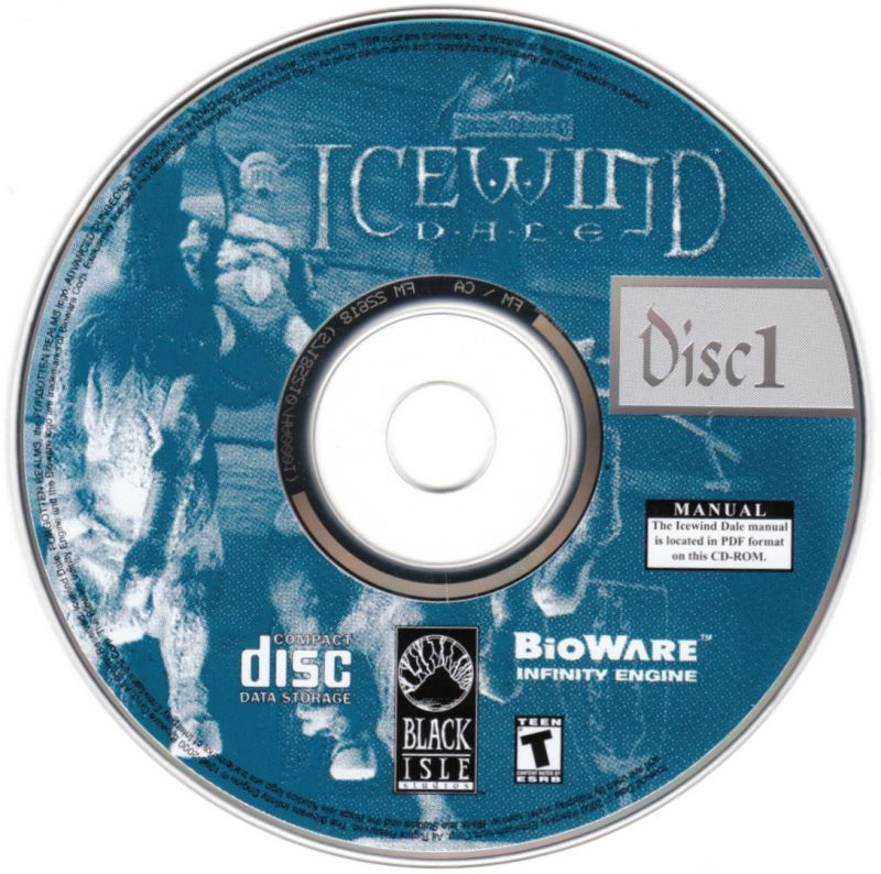 Icewind Dale: The Collection Windows Media Icewind Dale - Disc 1