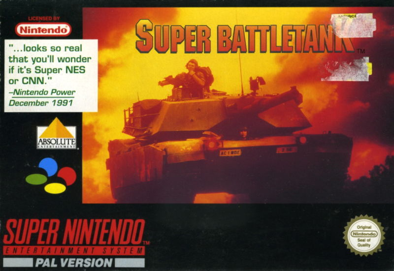 Super Battletank SNES Front Cover