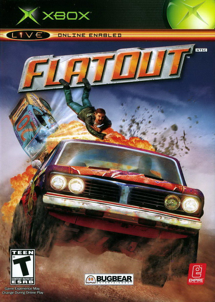 FlatOut Xbox Front Cover