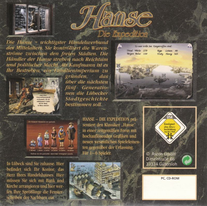 Hanse: Die Expedition DOS Other CD Cardboard Sleeve - Back