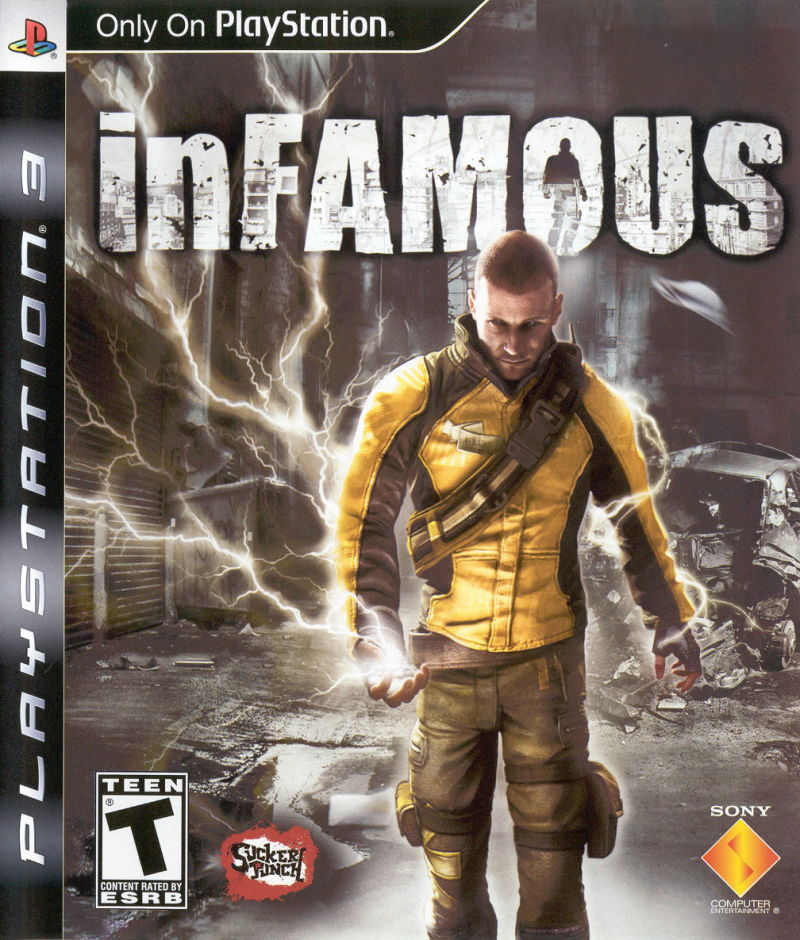 inFAMOUS PlayStation 3 Front Cover