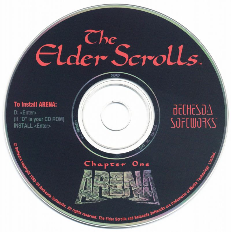 The Elder Scrolls: Arena DOS Media