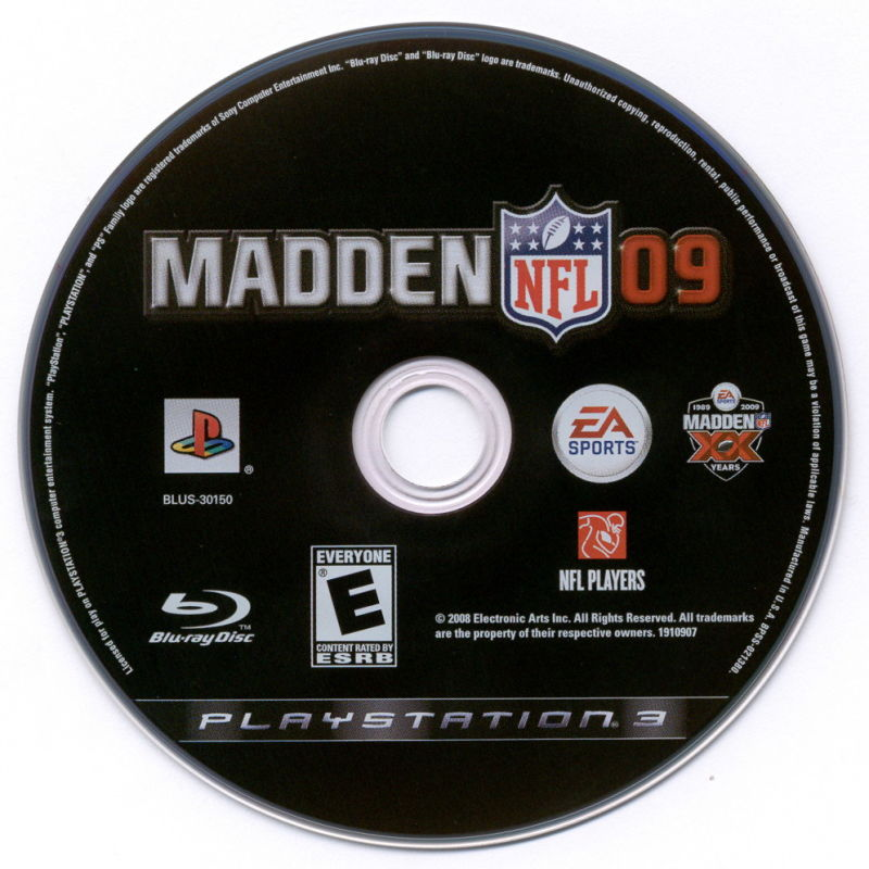 Madden NFL: XX Years (Collector's Edition) PlayStation 3 Media Madden NFL 09