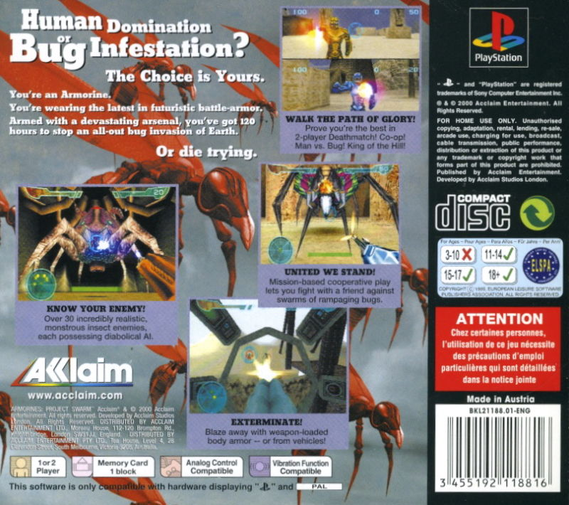 Armorines Project SWARM Playstation PSX Isos