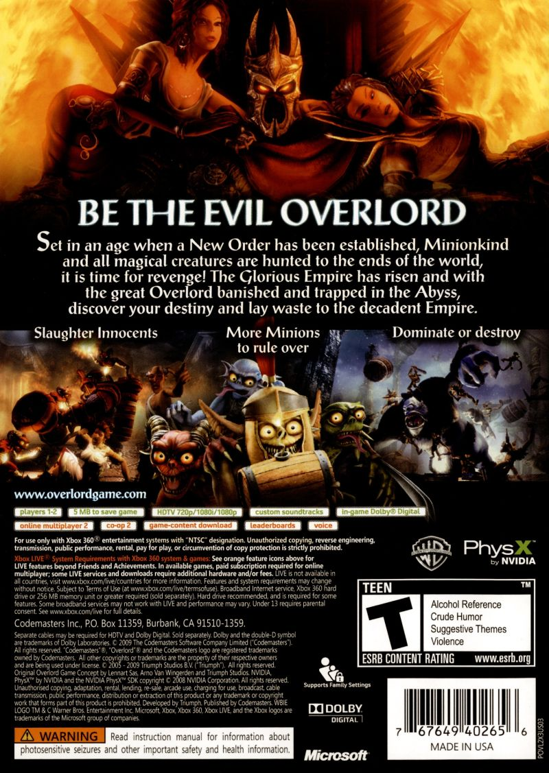 Overlord II Videos for Xbox 360 - GameFAQs
