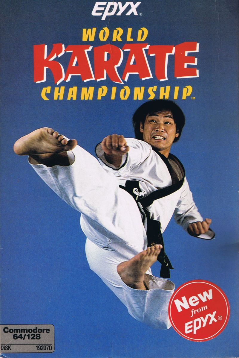World Karate Championship Commodore 64 Front Cover