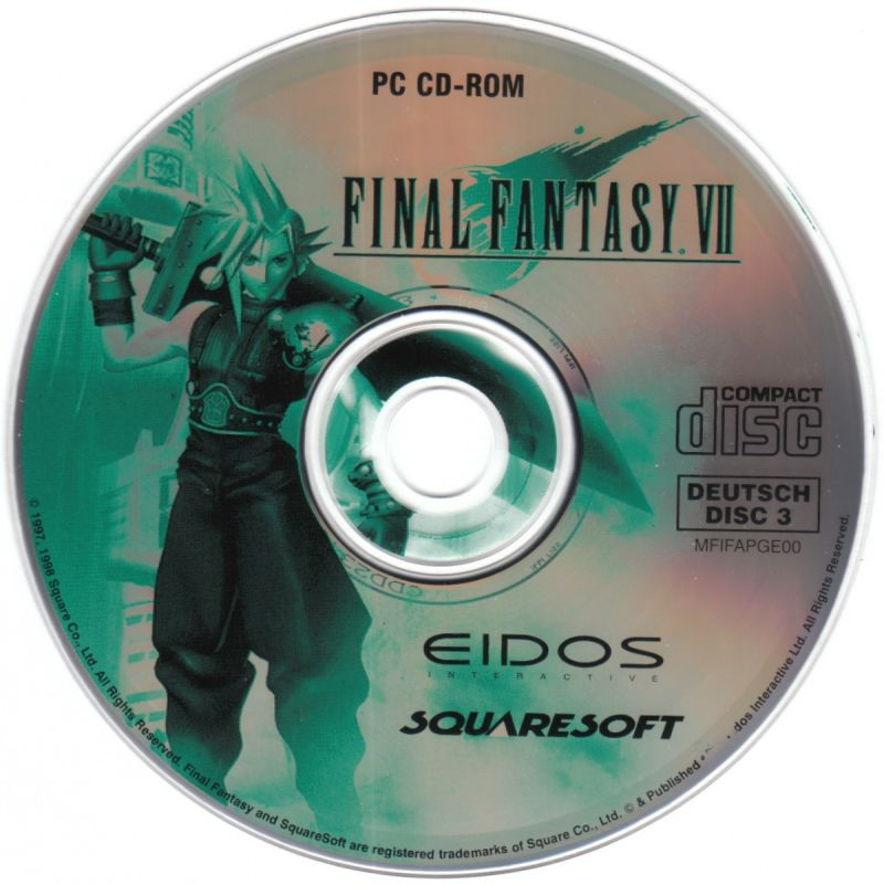 Final Fantasy VII Windows Media Game Disc 3/3