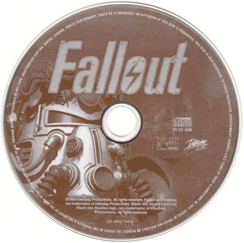 Fallout Apokalypse Windows Media Fallout Disc