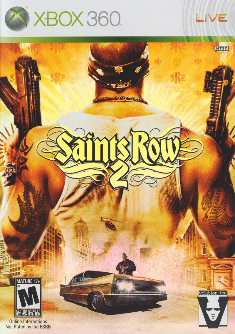 Saints Row 2 Xbox 360 Front Cover