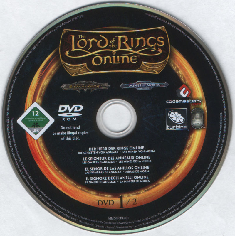 The Lord of the Rings Online: Mines of Moria Windows Media DVD 1/2