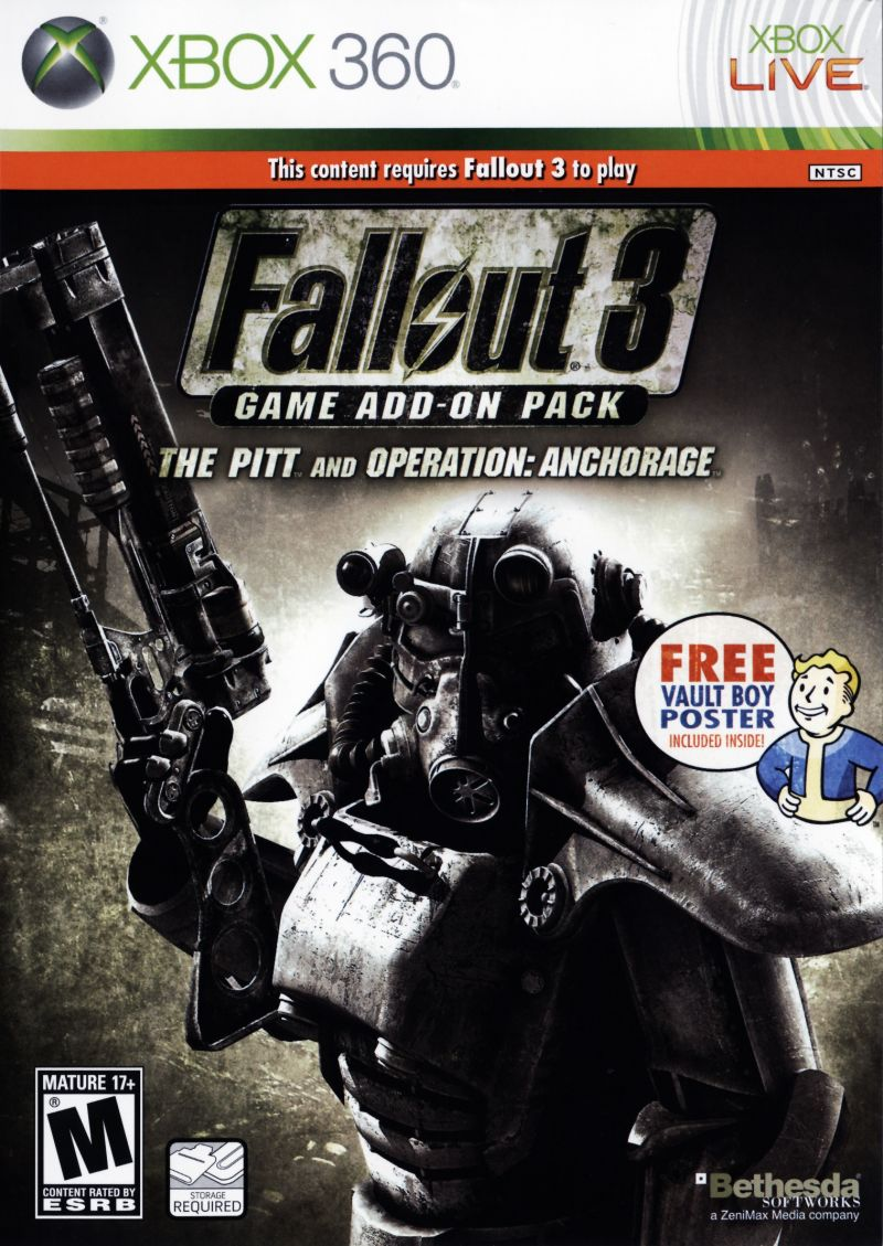 Fallout 3: Game Add-on Pack - The Pitt and Operation: Anchorage Xbox 360 Front Cover