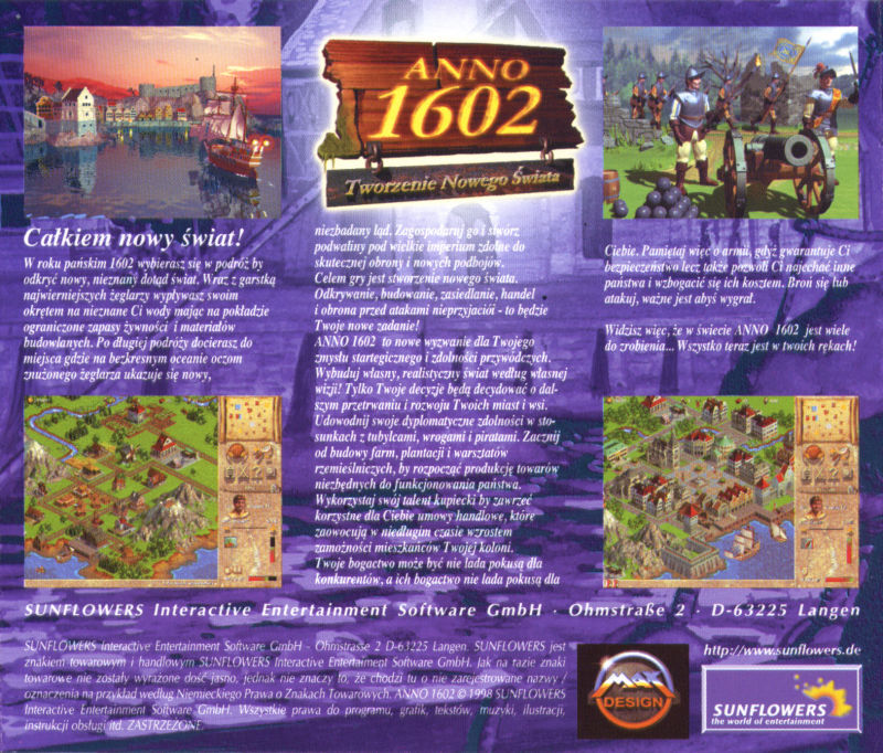 Anno 1602: Creation of a New World Windows Other Jewel Case - Back