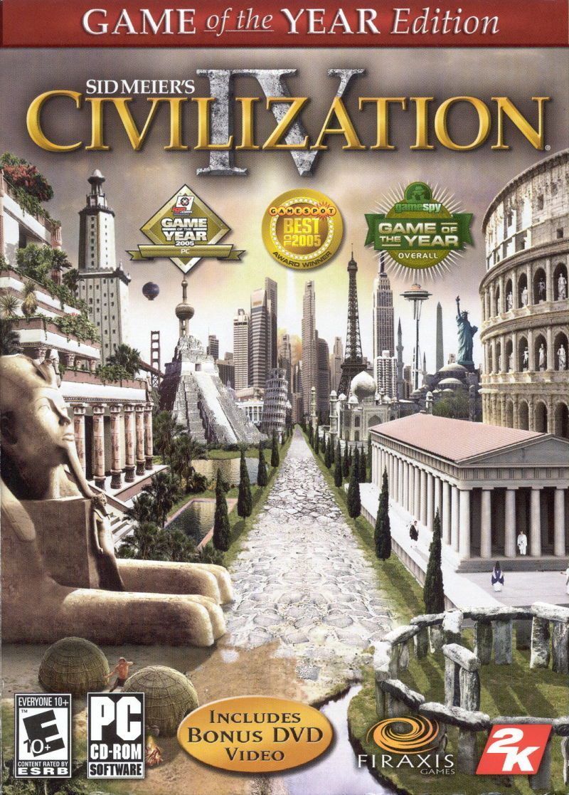 Sid Meier's Civilization IV: Game of the Year Edition Windows Front Cover
