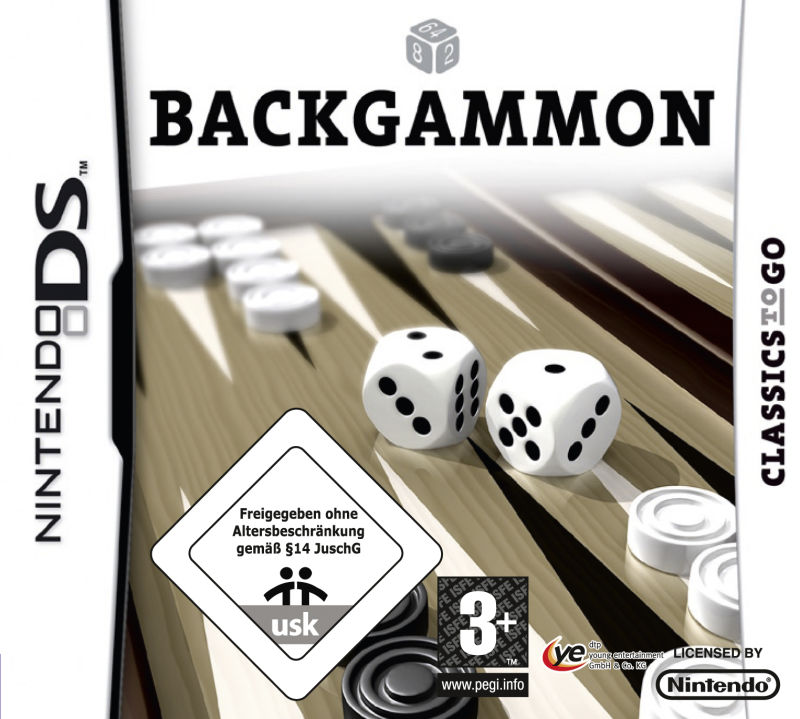 Backgammon Nintendo DS Front Cover