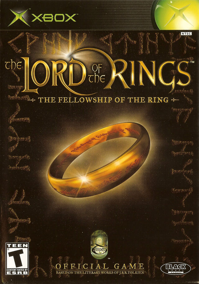 The Lord of the Rings: The Fellowship of the Ring Xbox Front Cover