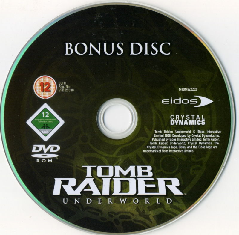 Tomb Raider: Underworld (Limited Edition) Xbox 360 Media Bonus disc