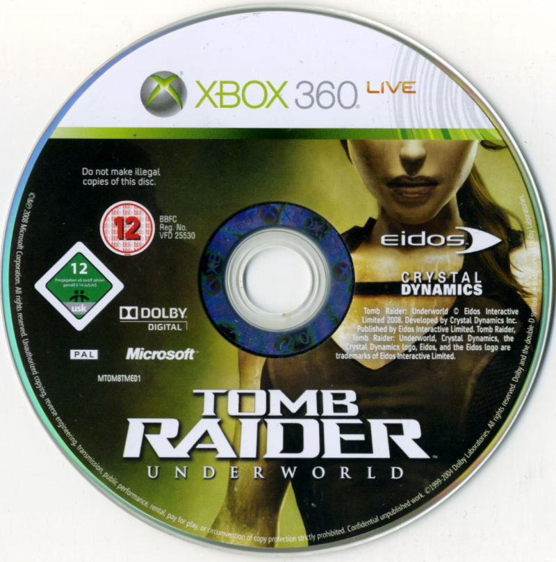 Tomb Raider: Underworld (Limited Edition) Xbox 360 Media Game disc