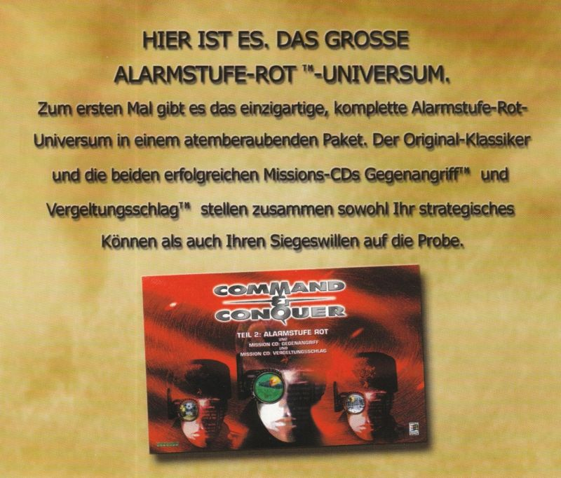Command & Conquer: Tiberian Sun Windows Other Jewel Case - Back Inlay