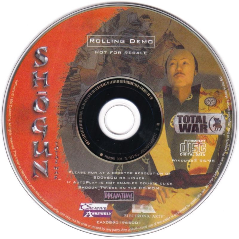 Command & Conquer: Tiberian Sun Windows Media Shogun: Total War - Rolling Demo Disc