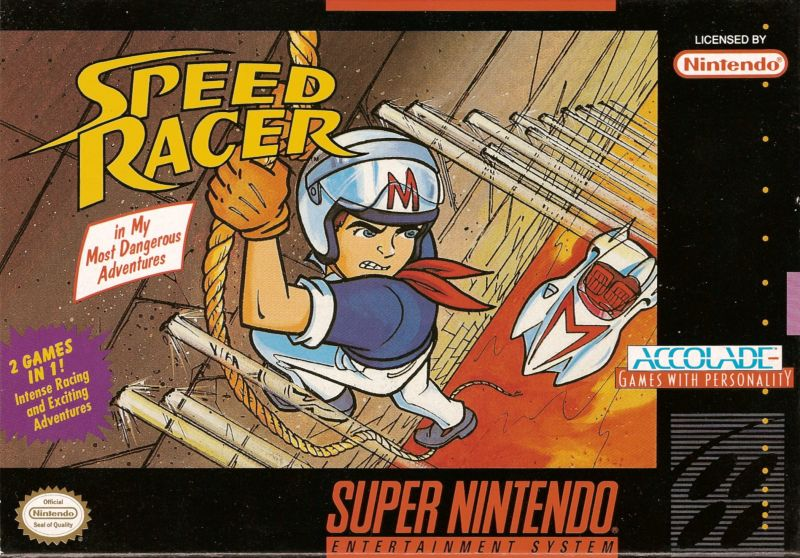 Speed Racer in My Most Dangerous Adventures SNES Front Cover