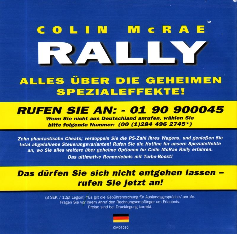 Colin McRae Rally Windows Other Jewel Case - Front Inlay