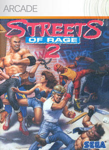 Streets of Rage 2 Xbox 360 Front Cover