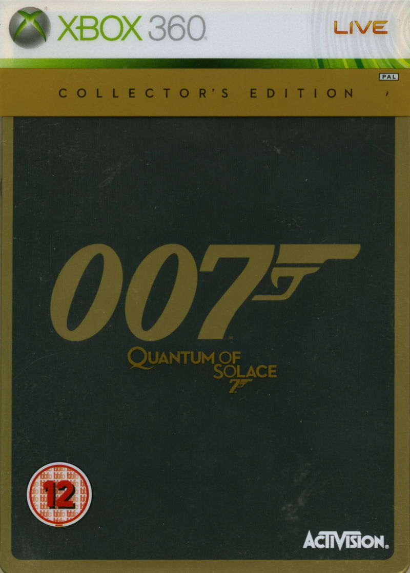 007: Quantum of Solace (Collector's Edition) Xbox 360 Front Cover Metal case with transparent plastic sleeve
