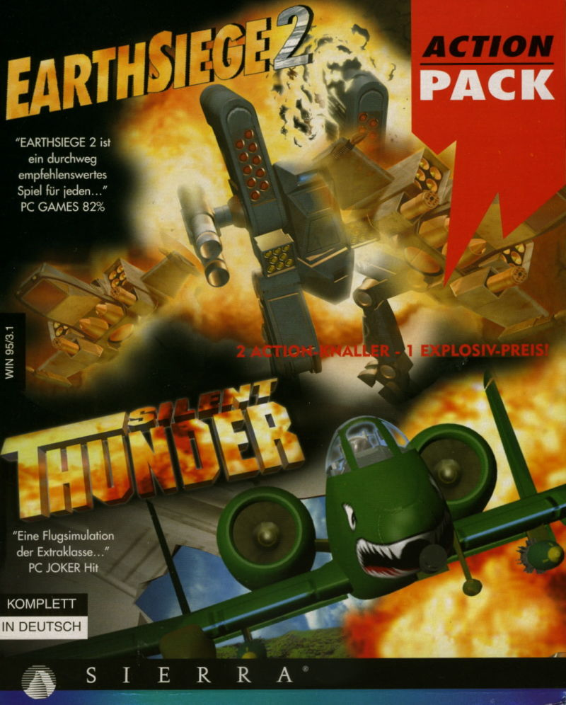 Action Pack: Earthsiege 2 + Silent Thunder Windows Front Cover