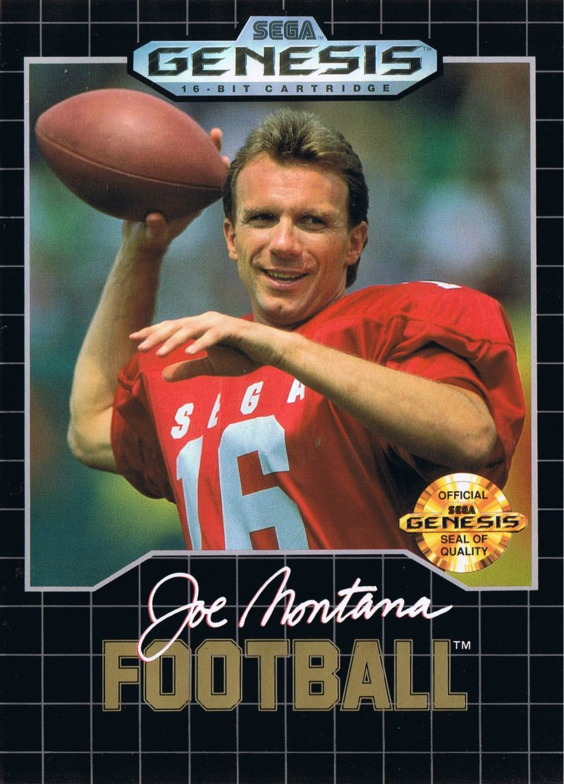 Joe Montana Football Genesis Front Cover