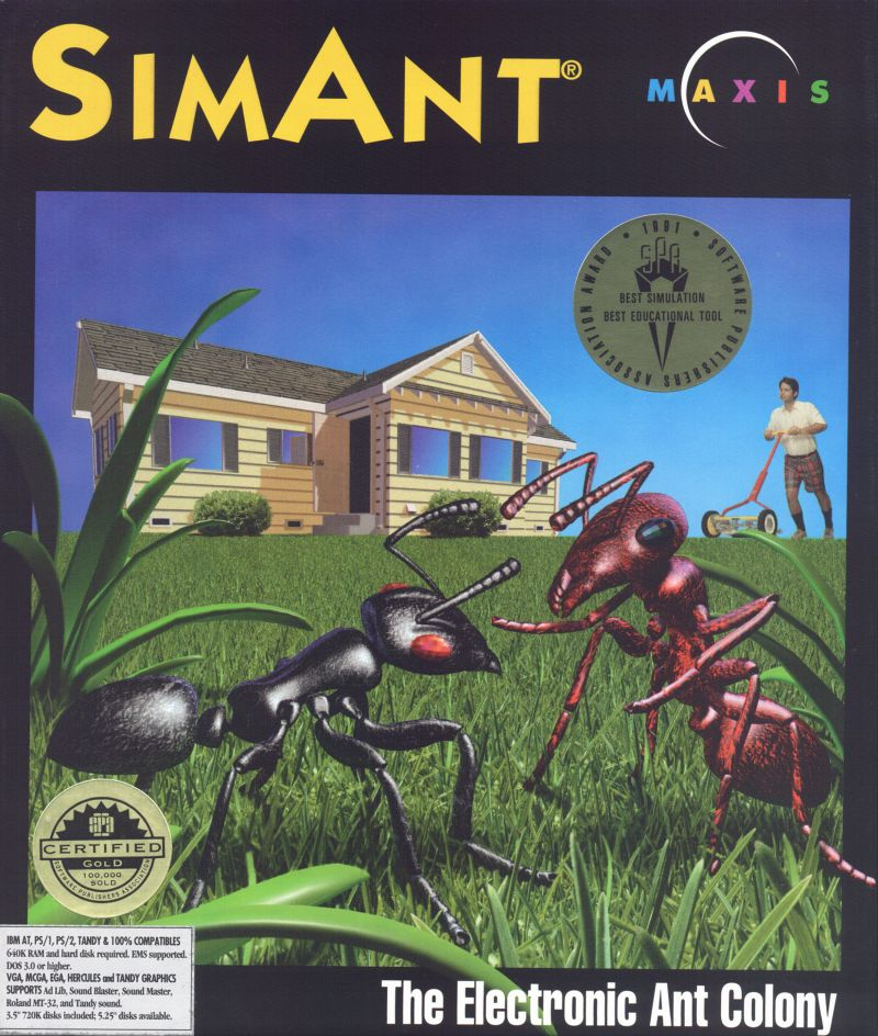 SimAnt: The Electronic Ant Colony DOS Front Cover