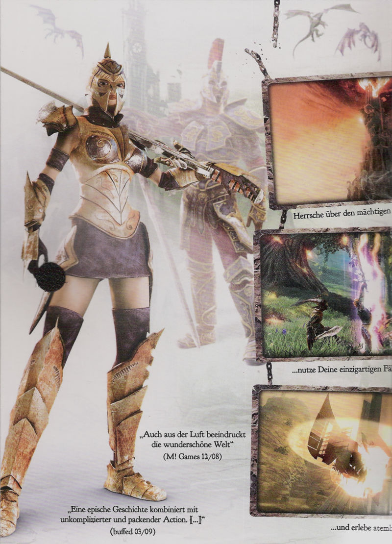 Divinity II: Ego Draconis Windows Inside Cover Left Flap